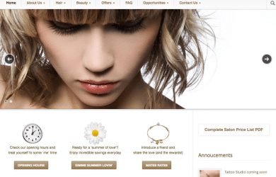 Arcana Group of Salons website